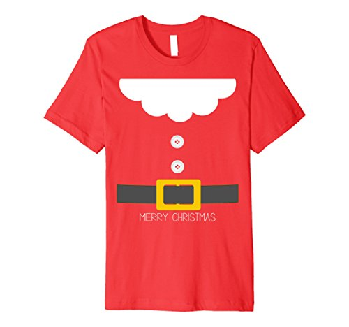 Halloween Group Costumes Ideas (Mens Santa Dwarf Halloween Christmas Group Costume Idea T-Shirt XL Red)