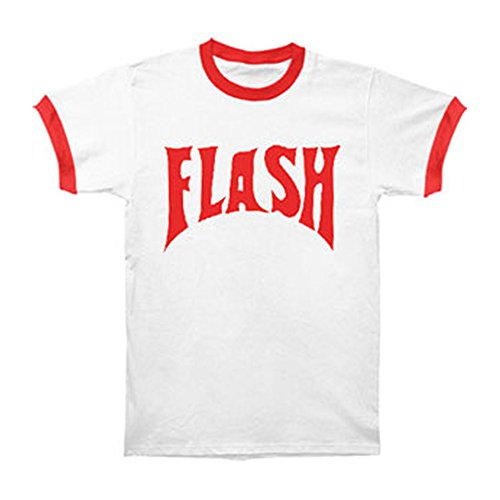 Flash Gordon Flash Bolt Ringer Adult White T-Shirt XL