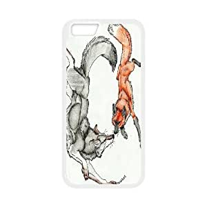 "UNI-BEE PHONE CASE For Apple Iphone 6,4.7"" screen Cases -Wolf Pattern-CASE-STYLE 4"
