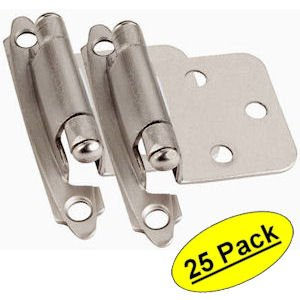 Cosmas 17139-SN Satin Nickel Hinge Variable Overlay [17139-SN] - 25 Pair Pack