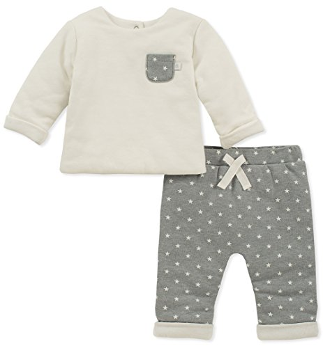 absorba Baby Boys 2 Pieces Pant Set -Pocket, Silent Vanilla, 6-9 Months ()