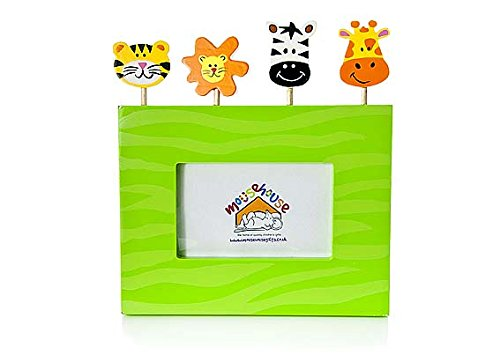 (Mousehouse Gifts Kids Jungle Safari Animal Photo Frame for Boys or Girls Bedroom or Nursery Decoration)