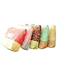 Floral Canvas Coin Cases Bags Card Purse Zip Wallets(5 sets)