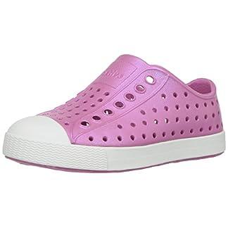 native Kids' Jefferson Iridescent Child Shoe, Malibu Pink/Shell White/Galaxy Iridescent,  11 Medium US Little Kid