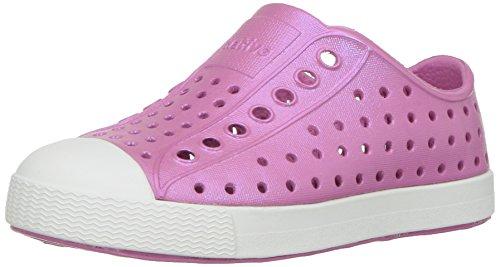 native Kids' Jefferson Iridescent Child Shoe, Malibu Pink/Sh