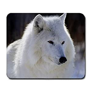 White Wolf Large Mousepad Mouse Pad Great Gift Idea