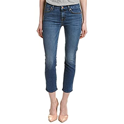Cheap 7 For All Mankind Women's The Ankle Straight Slim Straight Hyde Park Wash Jeans for sale