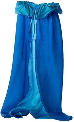 Sarah's Silks Reversible Silk Cape, 2 Layers of Silk (Turquoise/Blue)