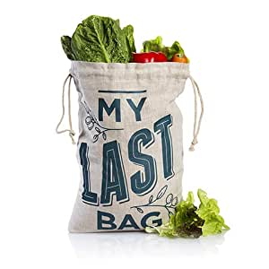 Guilt Free Pantry - Reusable Produce Bag - Zero Waste - Eco Friendly - Ideal Storage For Fruit Vegetables & Groceries - Tare Weight Printed On Bag - Made With Natural Sustainable Breathable Hemp