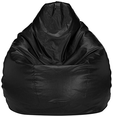 Solimo XXXL Bean Bag Cover Without Beans (Black)