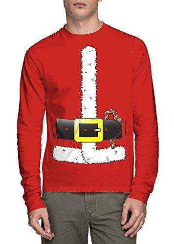 Long Sleeve Men's Santa Claus Costume Shirt (Red, XX-Large) -