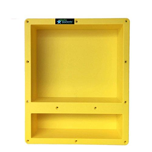 Shower Niche Double Shelf 20''x16'' Ready For Tile - Waterproof Leak Proof Bathroom Recessed Shower Shelf Niche - Organiser Storage For Shampoo and Toiletry Storage from Stella Sealants by Stella Sealants
