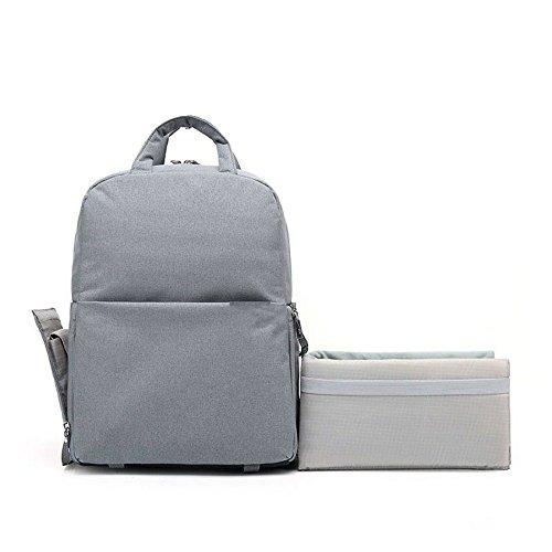 CLAIRE CC Professional Fashion Camera Bag DSLR Laptop Backpack Waterproof Rucksack Travel Large Size Multifunctional Backbag Water Resistant Gray