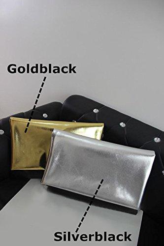 Zarapack - Borsetta senza manici donna Gold Black