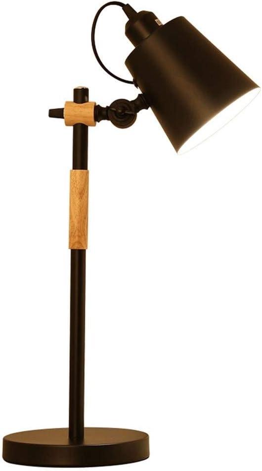 Mlimy E27 Moderna Minimalista lámpara de Lectura Tabla botón del Interruptor de la lámpara Titular Ajustable Dormitorio angulares de Hierro Estudio de Madera Sala de Aprendizaje de la lámpara Negro