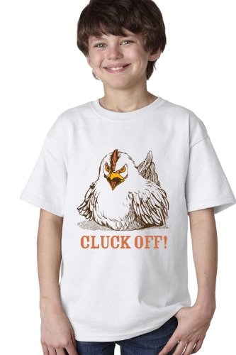 CLUCK OFF! Youth T-shirt / Funny Farmer 4H Farm Chicken Humor Tee