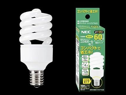 Amazon Nec 10個セット 電球形蛍光ランプ D形 ミニクリプトン電球60w相当タイプ 3波長形昼白色 E17口金 コスモボール ミニ Efd15en11e17c2c Set Necライティング 電球形蛍光灯 通販