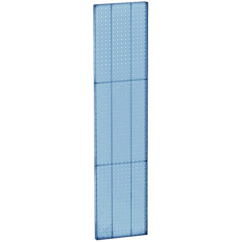 Azar 771360-BLU Pegboard 1-Sided Wall Panel, Blue Translucent Color, 2-Pack