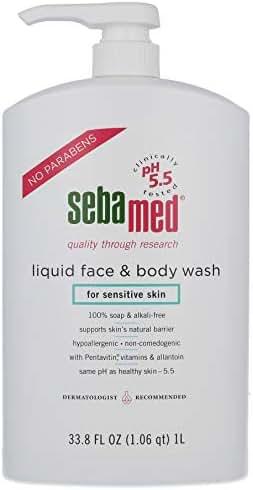 Sebamed Liquid Face and Body Wash, for Sensitive Skin 33.8-Fluid Ounces Bottle
