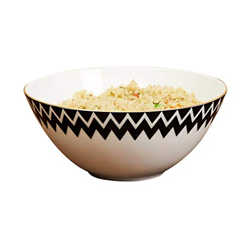 Home Centre Bone China Printed Cereal Bowl   1 Piece, White