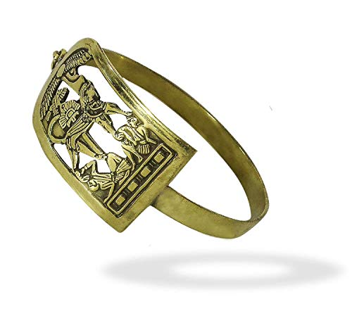 King Tut Cartouche - bonballoon Egyptian Egypt Pharaoh Brass Bracelet Cuff Isis Wings King TUT Beetle Luck Hieroglyphics Cartouche Pharaoh's Costume Jewelry Accessory Hieroglyphic Souvenir