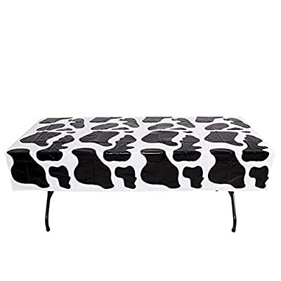 """54\"""" x 72\"""" COW SPOTS TABLE CLOTH46: Kitchen & Dining [5Bkhe1000582]"""