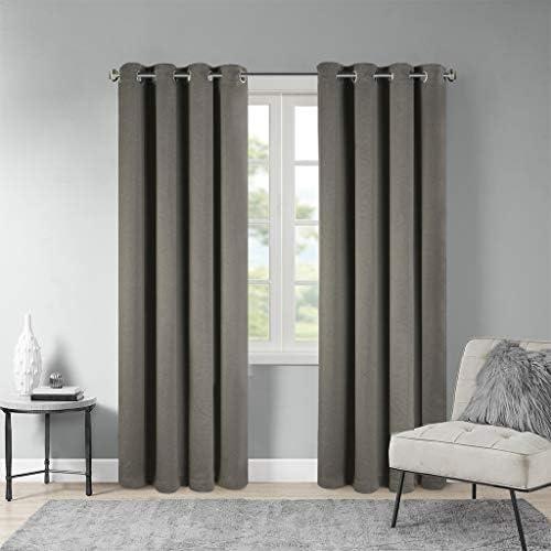 Alberta Tenda oscurante, super morbida, termica, per camera da letto, con occhielli oscuranti, per soggiorno