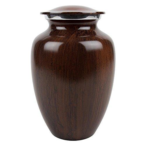 Mahogany Urn - Perfect Memorials Extra Large Woodland Cremation Urn