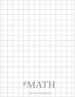 math graph paper notebook create practice 100 page big size 1 2 inches