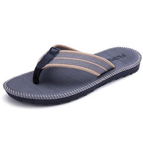 Gris Sint�tico Bajas Qianliuk Hombre Zapatillas de OBAwP8x