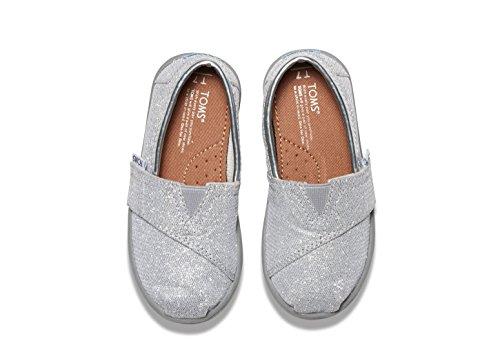 TOMS Kids Unisex Seasonal Classics (Infant/Toddler/Little Kid) Silver Glimmer Loafer 2 Infant M - Image 3