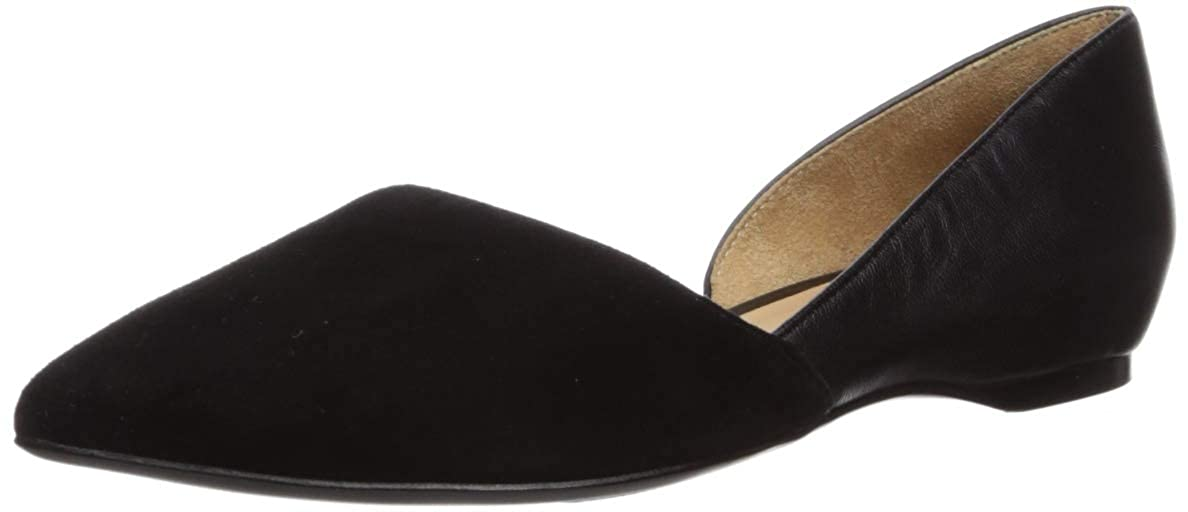 Black Faded Suede Naturalizer Women's Samantha Pointed Toe Flat