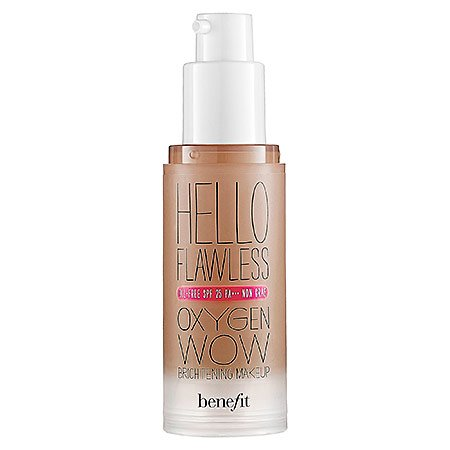 (Benefit Cosmetics 'Hello Flawless!' Oxygen Wow Liquid Foundation 'I'm So Glamber' Amber 1 oz )