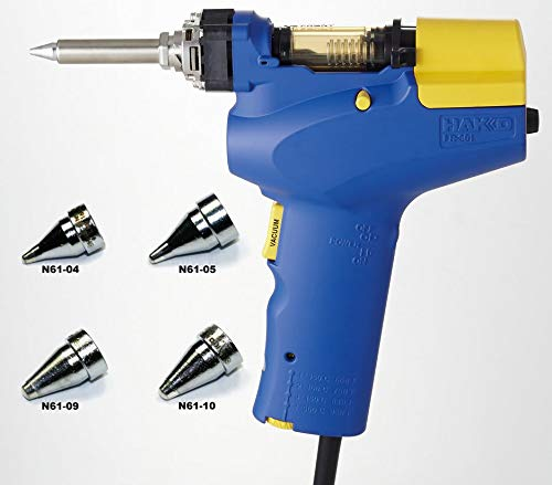 Hakko FR-301 - Desoldering Tool with Four Extra Nozzles (N61-04, 05, 09 and 10)