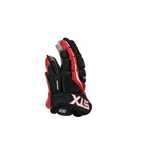 STX Surgeon 300 Junior Ice Hockey Gloves, Black/Red, 12