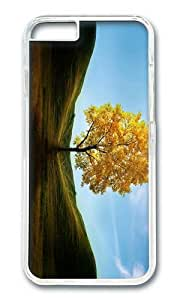 A maple tree on the hill PC Transparent Hard Case for Apple iPhone 6(4.7 inch)