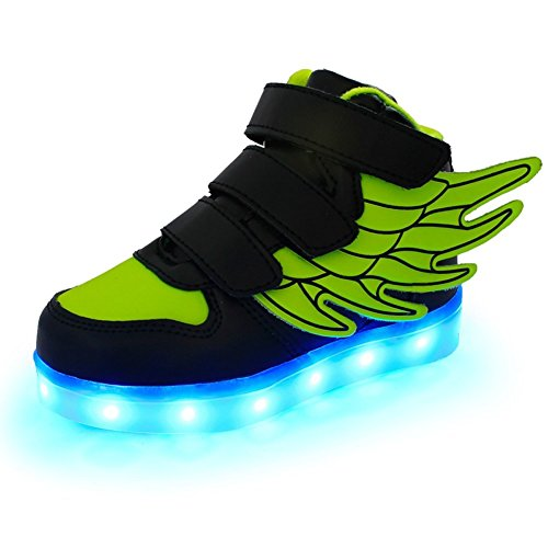 KARKEIN LED Light Up High Top Wings Shoes USB Rechargeable Flashing Sneakers for Toddlers Kids Boys Girls