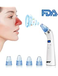 DOFLY Blackhead Remover, Skin Facial Pore Cleaner, Electric Blackhead Vacuum Suction Removal, Acne Comedone Extractor Tool Set, Comedo Microdermabrasion Exfoliating Machine for Women and Men