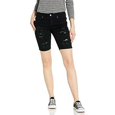 Cover Girl Women's Jeans Juniors Denim Shorts Booty Bermuda Capri Mid Rise Basic Or Ripped at Women's Clothing store