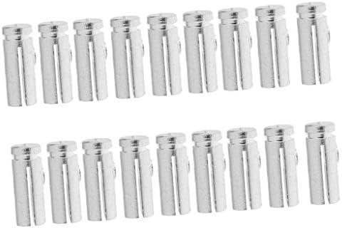 アルミ合金 ダーツフライト 一般通用 ユニバーサル セーバー プロテクター 交換用部品 シルバー 約18本入り