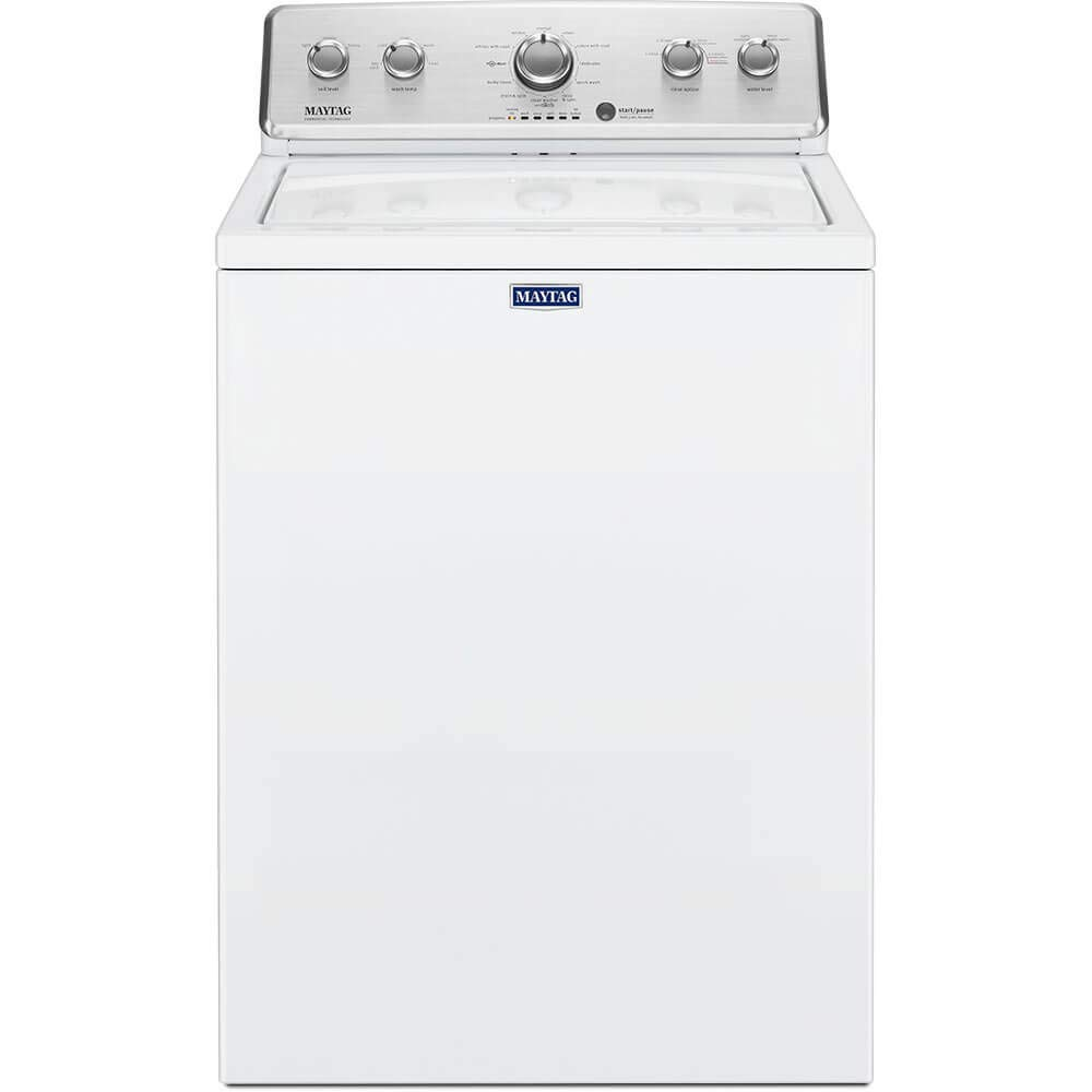 ft Maytag 3.8 cu High-Efficiency White Top Load Washing Machine with Deep Fill Option
