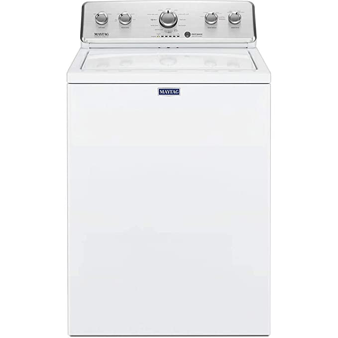 Maytag 3.8 cu. ft. High-Efficiency White Top Load Washing Machine with Deep Fill Option best top-loading washer