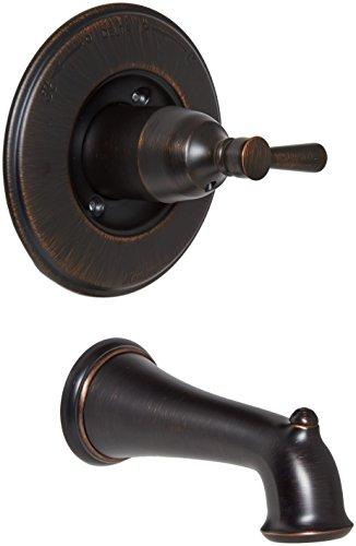Delta Faucet T14193-RB Linden Monitor 14 Series Tub Trim, Venetian Bronze, (Delta Bathtub Faucet Handle)
