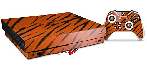Skin Wrap for XBOX One X Console and Controller Tie Dye Bengal Belly Stripes ()
