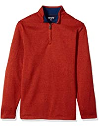 Men's Big and Tall Long Sleeve 1/4 Zip Sweater Fleece...