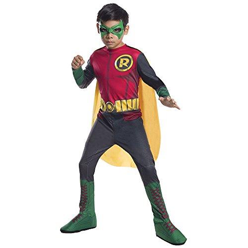 [DC Superheroes Robin Costume, Child's Medium] (Nightwing Costume Amazon)
