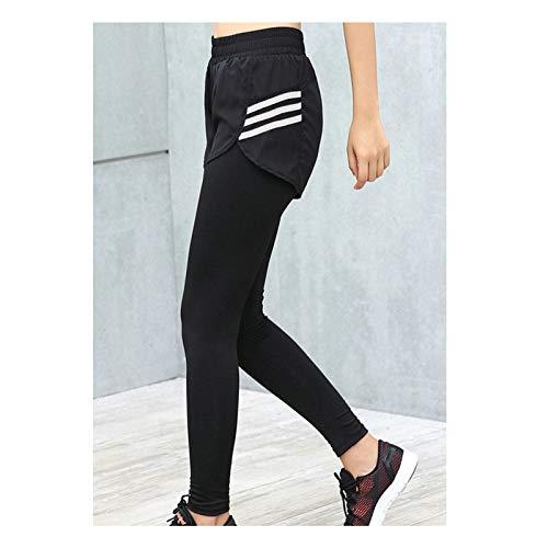Clothes 2 Western Piece (AmDxD Yoga Pants Nylon Spandex Athletic Pants Gym Leggings for Women Fake Two Pieces Design Mesh White Size L)