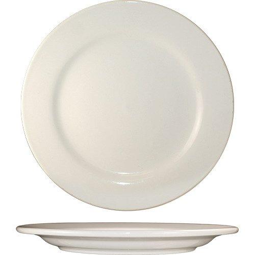 ITI-RO-7 Roma 7.125-Inch Plate, 36-Piece, American White by ITI