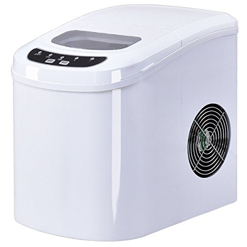 TAVLAR White Portable Compact Electric Ice Maker Machine Mini Cube 26lb/Day