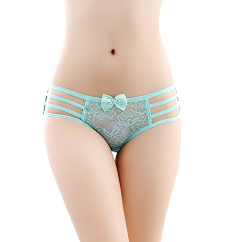 Gotd Women Sexy Lace Briefs Panties Thongs G-string Lingerie Underwear (Green) (Sexy Thanksgiving Pictures)
